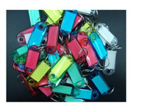 assorted key rings - Assorted Color Crystal Plastic Key ID Label Tags Card Split Ring Keyring Keychain AE01557