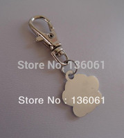 Wholesale Fashion Vintage Silvers PINK BLUE ENAMEL DOG CAT PAW PRINT ANIMAL Lobster Swivel Clasp Key Chain Ring Accessories P356