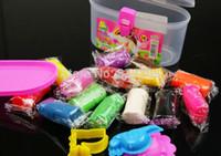 Wholesale piece DIY Plasticine Play Dough Colors moulds Play dough Child Educational Toy Fun New