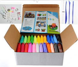 Wholesale Hot Plasticine DIY Polymer Clay Soft Polymer Modelling Clay set FIMO Learning education Toys colors