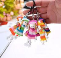 Wholesale JJ354 Sweater girl cell phone pendant plush doll girl toys wedding gift