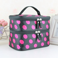 aluminum cosmetic cases - Brand New Fashion Double Layered character Women Zipper Cosmetic Case Bag Easy to carry Makeup Purse