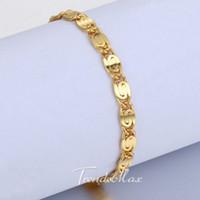 Wholesale mm Womens Mens Chain Girls Boys Unisex Snail Link K Rose Gold Filled GF cm Bracelet Gift Jewelry GBM85