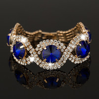 Wholesale New Fashion Bracelets Bangles silver and K Gold Plated Crystal Rhinestone best sell Bracelets Bangles