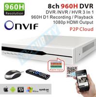 al por mayor red de sistema de cctv de 8 canales h.264-Al por mayor-Nueva red H.264 960H 8channel cctv NVR HVR ONVIF 8 canales H.264 CCTV DVR Standalone usb sistema de registro de la alarma 3G Wifi para el hogar