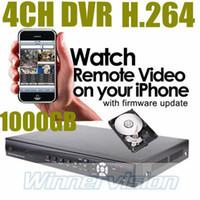 Cheap Wholesale-4 channel Standalone H.264 Network DVR come with 1000GB hard drive pre-installed