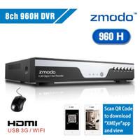 al por mayor circuito cerrado de televisión de cámara de 8 canales zmodo-Al por mayor-Zmodo dvr del cctv de 8 canales 960H grabación grabadora de vídeo digital con P2P iCloud HDMI dvr 8 canales para el sistema de cámaras de seguridad en el hogar