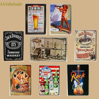 metal decor - new cm Beer Wine Vintage Metal Painting tin sign Bar pub home Wall Decor Retro Mural Poster Home Decor Craft