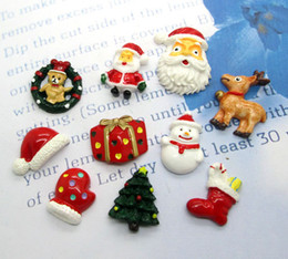 Wholesale Mixed Resin Christmas Gift Series Flatback Cabochon Scrapbook
