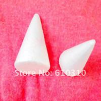 venda por atacado bolas de isopor-Atacado-Free shiping atacado 14 centímetros naturais brancas de isopor Cones ornamentos Balls para ofícios artesanais DIY (24pcs / lot)