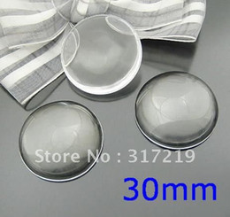 Wholesale Al por mayor el envío libre mm de Vidrio Transparente Cabujón Redondo Lupa domos vidrio claro de la base de la configuración de