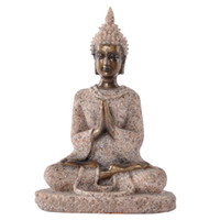 buddha statues - small cheap Thailand fenghui buddha statue for home office decoration resin sandstone crafts cm