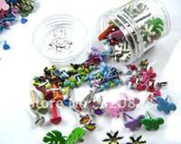 craft embellishments - mix Brads colorful DIY material scrapbooking embellishments craft nail metal brad
