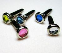 Wholesale PROMOTION Mixed color Scrapbooking jewel Brads rhinestone acrylic brad mm round