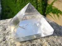 Wholesale mm natural clear quartz crystal pyramid