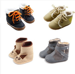 Wholesale-Baby Shoes Baby boys winter boots warm snow boot infant first walkers soft sole boy toddler shoes prewalker shoes