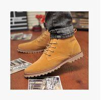 work boots for men - Men Sneakers Medium Leg Shoes Men Italian Design Walking Shoes For Men Dc Polo Social Work Cowhide Punk Boots Male Martin boots