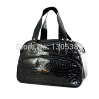 dog carriers - New Green ancient sweep metal parts Black crocodile Pet Dogs carrier bag By CPAM Dogs bag