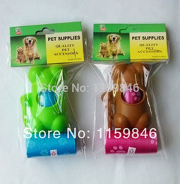 Wholesale Pet Dog Car bag Case pet waste poop bag with cute flower printing roll cm different colour supply