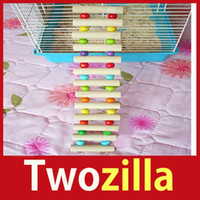 big hamster - store specials Twozilla Flexible Wooden Rat Hamster Mouse Ladder Gerbil Cute Small Animal Pet Toy Hot cheap big discount