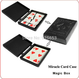 Wholesale Miracle Card Case high quality beautiful color box packaging beginner close up magic tricks amazing toys