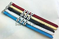 achat en gros de bonne qualité des bracelets en cuir gros-Cadeaux élégants gros- véritables 12mm en cuir bouton pression bracelet pour les femmes de bonne qualité (12mm adapter pression) BR18