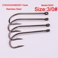 Wholesale fishhook stainless steel Sport Cirle Hook black color Jig Big Hook g pc Fishing Hooks
