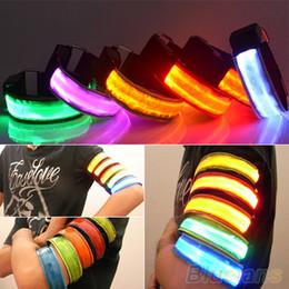 Wholesale LED Safety Reflective Belt Strap Snap Wrap Arm Band Shine Armband for Running V1Y