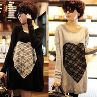 basic clothes - new Maternity clothing autumn maternity top maternity t shirt basic shirt maternity sweater one piece dress