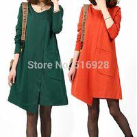 Wholesale Winter Autumn Long Sleeve Maternity Dresses Clothes For Pregnant Women Pregnancy Vestidos Para Gestantes Gravida