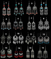 Wholesale earrings Tibetan silver earring fashion jewelry top quality mix order