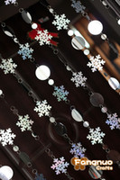 acrylic snowflake ornaments - Christmas decoration curtain big snowflakes laser sequins PVC glitter sequins curtain Christmas tree ornaments