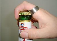 Nueva marca --- Botella Opener-200pcs / lot del anillo de dedo del acero inoxidable