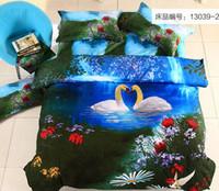 Cheap Wholesale-linen set 3D oil printing quilt cover comforter set duvet cover bed sheet linens bed set bedclothes quilt flower animal bedcover