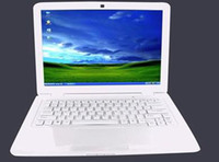 Wholesale 1pcs inch laptop GB DDR2 GB HDD Intel N455 CPU remote control Webcam WiFi netbooK Two color