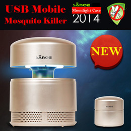 Wholesale-2015 photocatalyst repellent mosquito killer lamps 100-240V 5W USB+retractable design mosquito night light