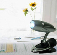 Wholesale spot portable White LED Bullet Desin Flexible Mini Clip on clip Lamp book reading lighting Light CN post