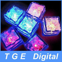 7 Color auto changing Fast Flash, Slow Flash about 28mm*28mm*25mm Romantic LED Ice Cubes Fast Flash Slow Flash 7 Color Auto Changing Crystal Cube For Valentine's Day Party Wedding 360pcs lot Can Mix Mode