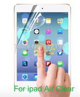Wholesale Sets Crystal Screen Guard Transparent LCD Protective Film For ipad air Tablet PC Clear Screen Protector Without Retail Box
