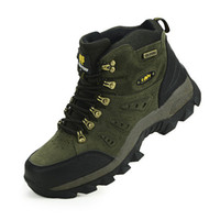Cheap Wholesale-Real Original Brand Winter Athletic Rubber High-Top Lace-Up Outdoor Sport Snow Ski Trekking Hunting Hiking Shoes Boots Men Women