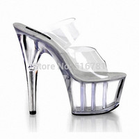 stripper shoes - Vivi Magazine Full Transparent Star At Home Inch Sandals cm High Heeled Shoes Sexy Womens Crystal Stripper Shoes