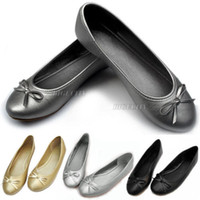 ballerina slippers women - Spring New Womens Casual Comfort Comfy Bow Flats Ballet Ballerina Slip Shoes Loafer Slipper Color Size