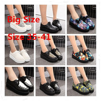 creepers - Size Creepers Platform Shoes Woman Flats Shoes Female Creepers Shoes Footwear Women Black R03