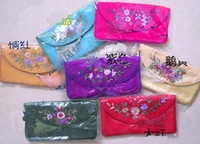 Wholesale 10PCS CHINESE EMBROIDERED Silk Glasses bags Eyeglass Cases