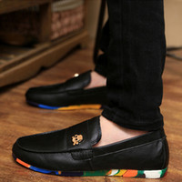 Wholesale fashion men leather shoes skull shoe colorful shoe sole PU Leather Luxury Brand Sneakers for Mens shoes MW022