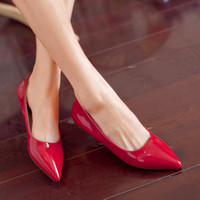 almond candy - New pointy flat shoes nice candy colors wowen shoes
