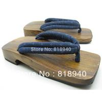 Wholesale Men Japanese Wooden Geta Kimono Clog Thong Sandal Flip Flop Slipper Toe Post New