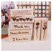Wholesale Diy Cute Kawaii Cartoon Cat House Stamp Wood Love Thank You Stamps For Decoration Scrapbooking Stationery