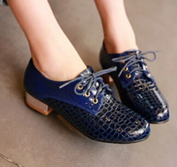 British retro preppy style Floral Print student shoes with big Lace-up
