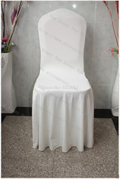 Wholesale Ivory Elegant Pleated Swag Spandex Chair Cover Lycra Chair Cover Chair Sash For Wedding Party Hotel Banquet Home Decorations